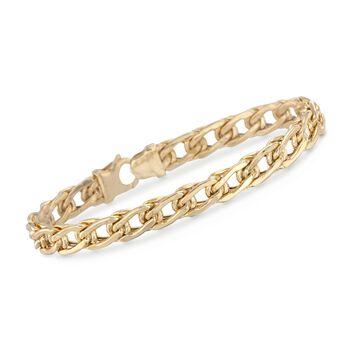 Italian 14kt Yellow Gold Flat-Link Bracelet, , default