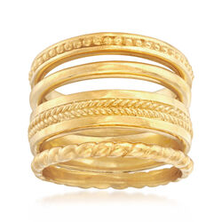14kt Gold Over Sterling Jewelry Set: Four Stackable Rings, , default
