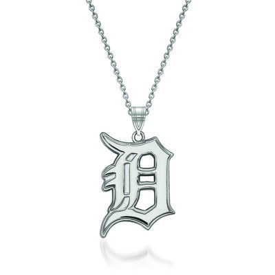 """Sterling Silver MLB Detroit Tigers Pendant Necklace. 18"""""""