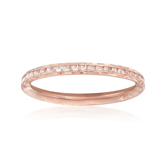 .70 ct. t.w. CZ Ring in 14kt Rose Gold