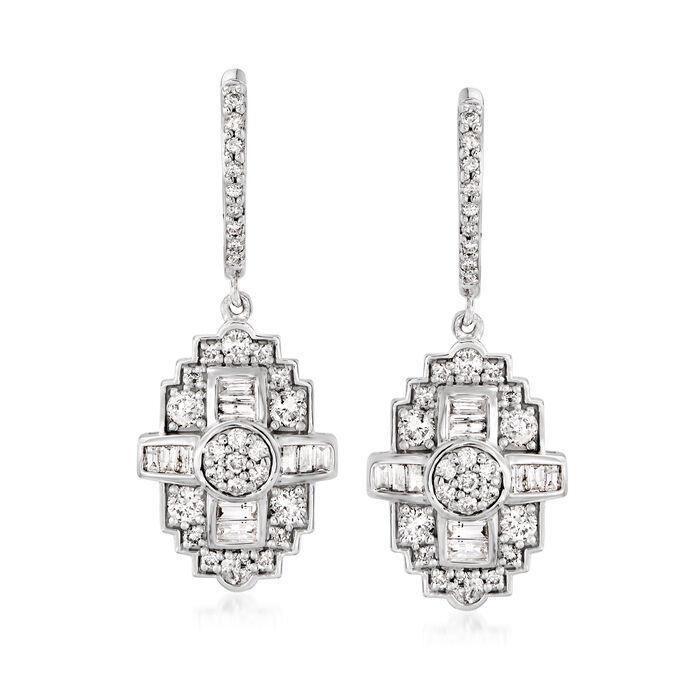 1.00 ct. t.w. Diamond Drop Earrings in Sterling Silver