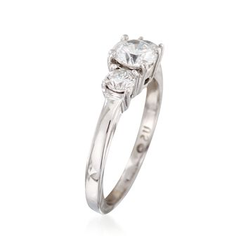 C. 2000 Vintage .85 ct. t.w. Diamond Ring in 14kt White Gold. Size 5.5, , default