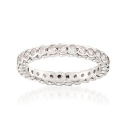 .81 ct. t.w. CZ Eternity Band in Sterling Silver, , default