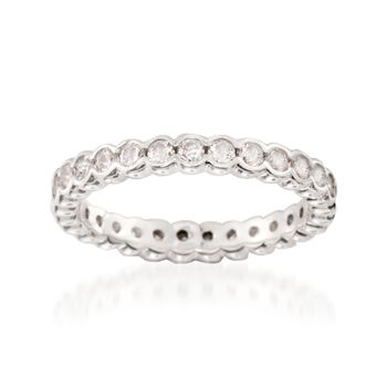 .81 ct. t.w. CZ Eternity Band in Sterling Silver. Size 5, , default