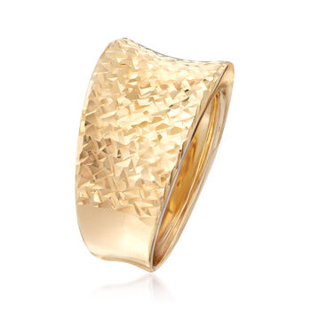 Italian 14kt Yellow Gold Concave Ring