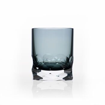 """Rolf Glass """"Vienna"""" Set of 2 Smoke Blue Double Old-Fashioned Glasses, , default"""