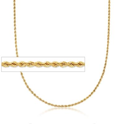 Italian 18kt Yellow Gold Rope Chain Necklace