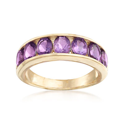 2.80 ct. t.w. Amethyst Eternity Band in 14kt Yellow Gold