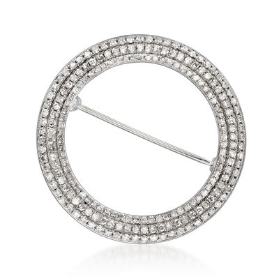 2.00 ct. t.w. Diamond Open-Circle Pin in 14kt White Gold, , default