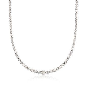 4.00 ct. t.w. Diamond Tennis Necklace in 14kt White Gold, , default