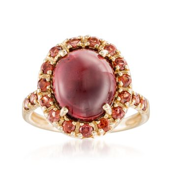 6.00 ct. t.w. Garnet Ring in 14kt Yellow Gold, , default