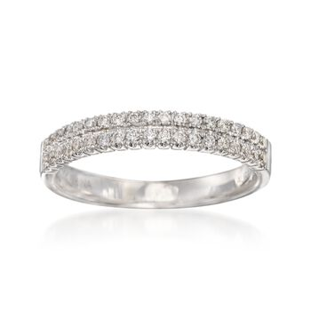 .34 ct. t.w. Diamond Two-Row Wedding Ring in 14kt White Gold, , default