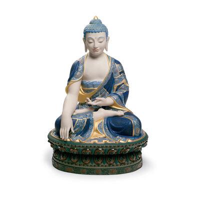 "Lladro ""Shakyamuni Buddha"" Golden Lustre Porcelain Figurine, , default"