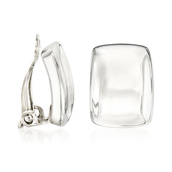"""Zina Sterling Silver """"Palm Springs"""" Small Clip-On Earrings, , default"""