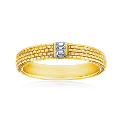 Men's .12 ct. t.w. Diamond Wedding Ring in 14kt Yellow Gold, , default