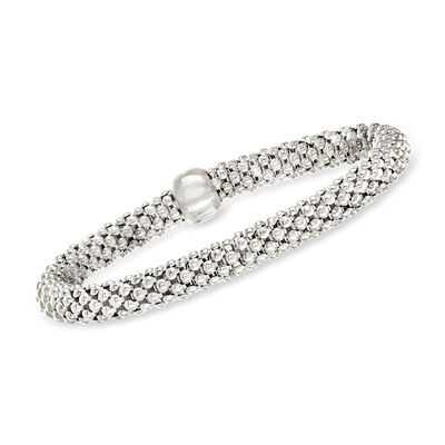 Italian Sterling Silver Stretch Bracelet