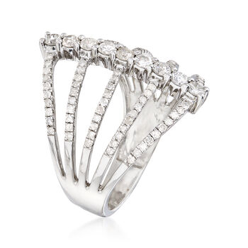 1.00 ct. t.w. Diamond Multi-Row Ring in Sterling Silver, , default