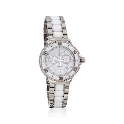 TAG Heuer Formula 1 Women's 41mm .44 ct. t.w. Diamond Watch in Stainless Steel and White Ceramic , , default