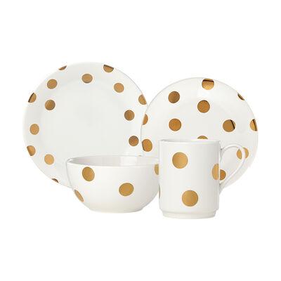 "Kate Spade New York ""Deco Dot"" 4-pc. Ceramic Dinnerware, , default"