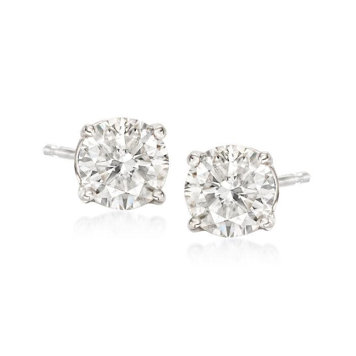 1.25 ct. t.w. Diamond Stud Earrings in 14kt White Gold , , default