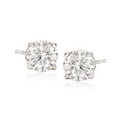 1.25 ct. t.w. Diamond Stud Earrings in 18kt White Gold, , default