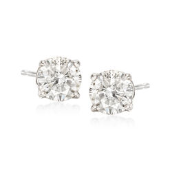 1.20 ct. t.w. Diamond Stud Earrings in 14kt White Gold , , default