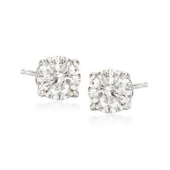 1.20 ct. t.w. Diamond Stud Earrings in 14kt White Gold , , default