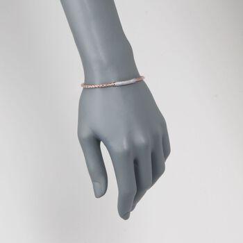 "Charles Garnier ""Nardini"" .40 ct. t.w. CZ Cuff Bracelet in 18kt Rose Gold Over Sterling. 7"", , default"