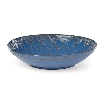 """Lenox """"Global Tapestry"""" Blue Porcelain Low Serving Bowl, , default"""