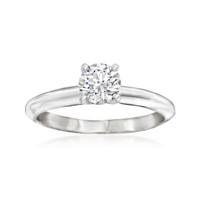 .52 Carat Certified Diamond Solitaire Ring in 14kt White Gold