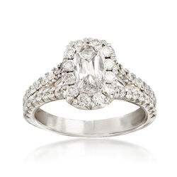 Henri Daussi 1.47 ct. t.w. Diamond Engagement Ring in 18kt White Gold, , default