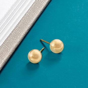 Italian 8mm 18kt Yellow Gold Ball Stud Earrings