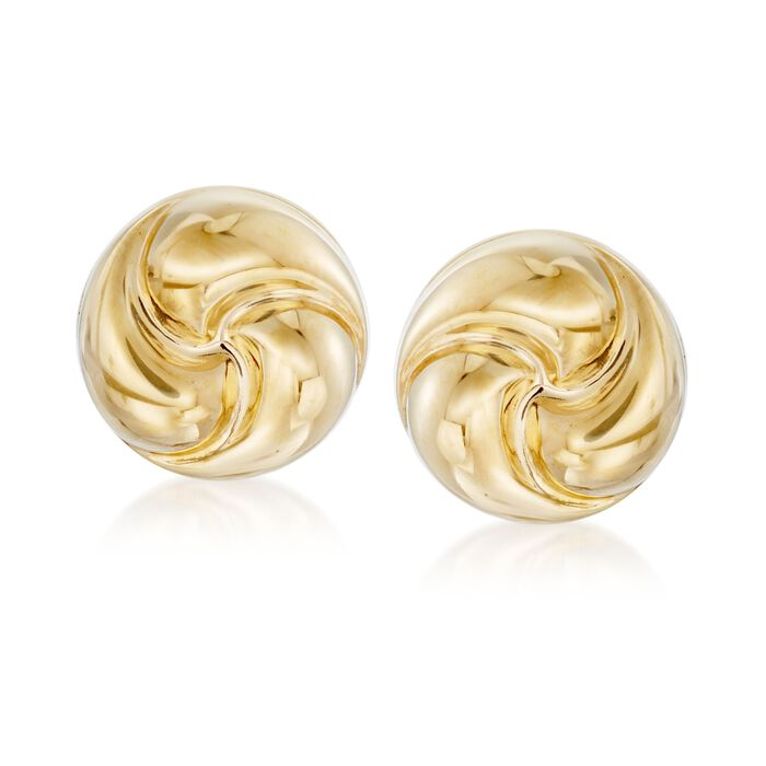 Italian 18kt Yellow Gold Rosetta Love Knot Stud Earrings