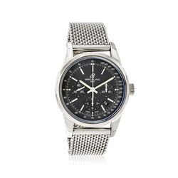 Breitling Transocean Men's 43mm Auto Chronograph Stainless Steel Watch, , default