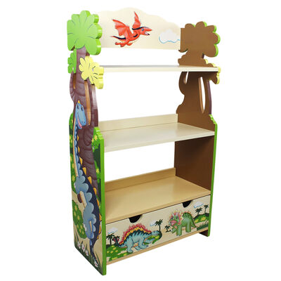 "Child's ""Dinosaur Kingdom"" Wooden Bookshelf"