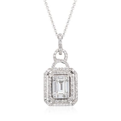 Simon G. .60 ct. t.w. Diamond Pendant Necklace in 18kt White Gold, , default