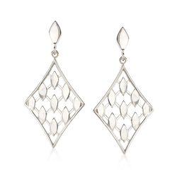 "Zina Sterling Silver ""Casablanca""  Drop Earrings , , default"