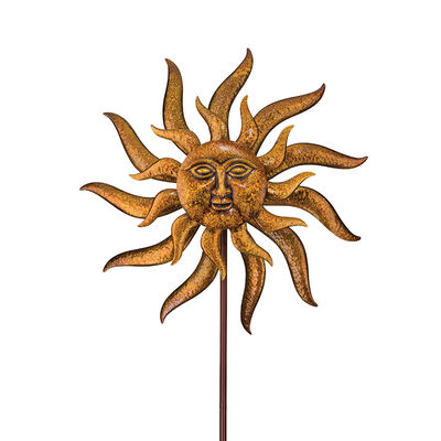 "Regal ""Sun Face"" Outdoor Decorative Garden Wind Spinner, , default"