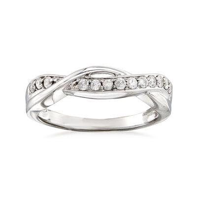 .25 ct. t.w. Diamond Twist Ring in Sterling Silver, , default