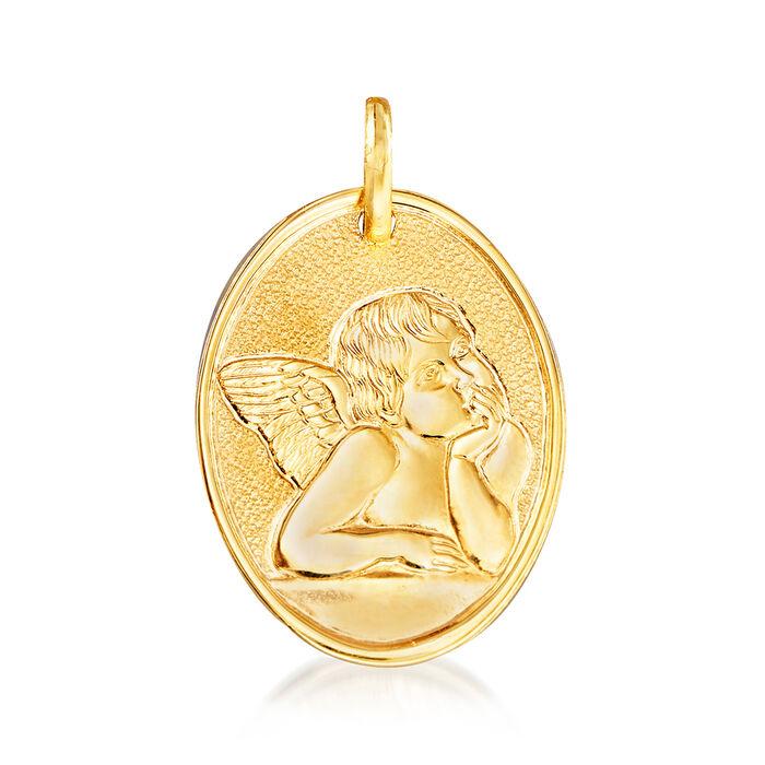 Italian 14kt Yellow Gold Raffaello's Angel  Pendant