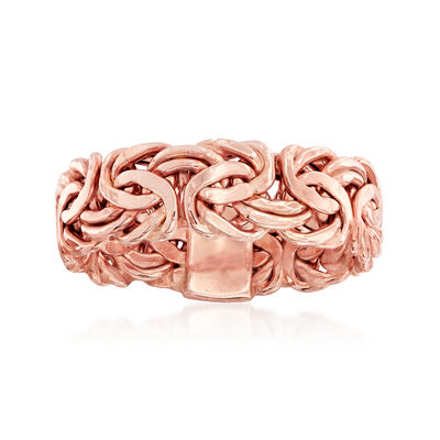 14kt Rose Gold Byzantine Ring, , default