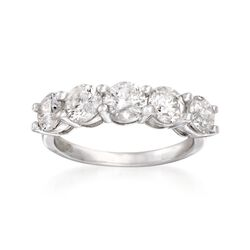 2.50 ct. t.w. Diamond Five-Stone Ring in 14kt White Gold, , default
