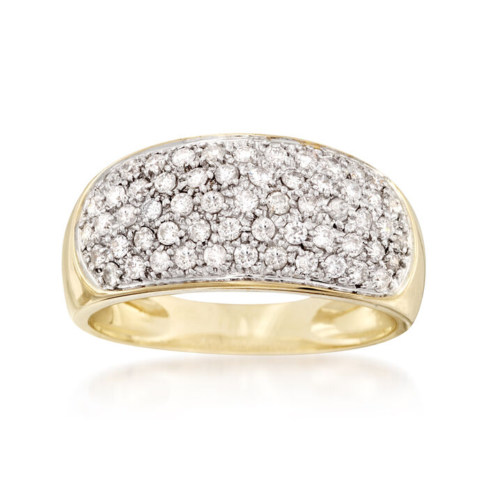 .70 ct. t.w. Pave Diamond Ring in 14kt Yellow Gold