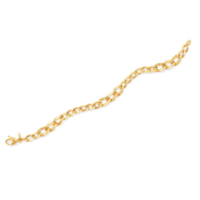 Italian Multi-Oval Link Bracelet in 14kt Yellow Gold