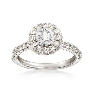 Henri Daussi 1.36 ct. t.w. Diamond Engagement Ring in 18kt White Gold #905079