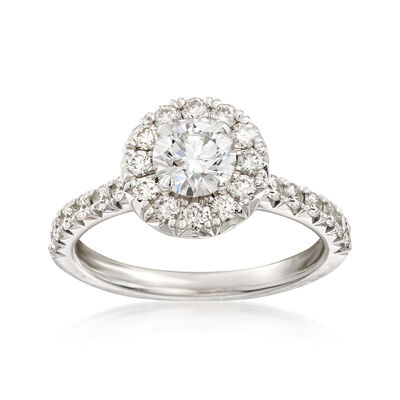 Henri Daussi 1.36 ct. t.w. Diamond Engagement Ring in 18kt White Gold