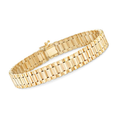 Men's 14kt Yellow Gold Link Bracelet, , default