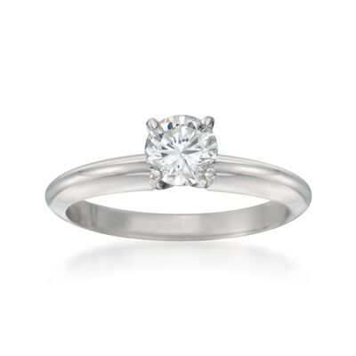.60 Carat Diamond Solitaire Engagement Ring in 14kt White Gold