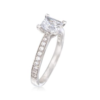 Gabriel Designs .32 ct. t.w. Diamond Engagement Ring Setting in 14kt White Gold, , default
