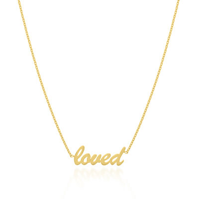 "14kt Yellow Gold ""Loved"" Adjustable Necklace, , default"